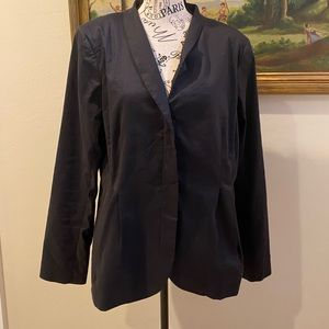 Eileen Fisher L black lined jacket